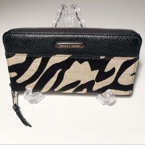 Dana Bucman Fully Zippered Zebra Printed Wallet